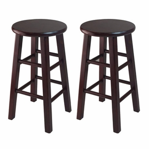 "Set of Two Attractive Wooden Stylish 24"" Counter Stools by Winsome Woods"