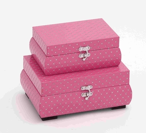 Set of Two Sophisticated Vinyl Boxes with Star Design Brand Benzara