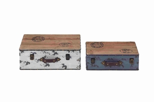 Set of Two Trendy and Stylish Wooden Cases Brand Benzara