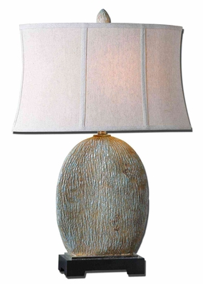 Seveso Light Blue Table Lamp with Light Rust Wash Brand Uttermost