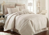 Shadow Creek Embroidered Queen Size Comforter Set in Classic Ivory Shade