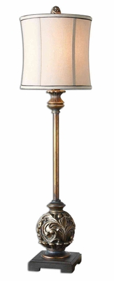 Shahla Bronze Buffet Lamp with Champagne Detailing Brand Uttermost