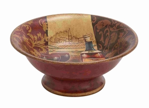Shanghai Artistic Multihued Ceramic Bowl - 52375 by Benzara