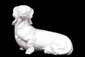 Shanghai's Alluring Ceramic Dog Decor White