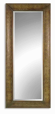 Shayna Wall Mirror with Copper and Chestnut Brown Glaze Brand Uttermost