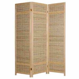 Sheet Bamboo Screen, 3 Panel Screen, 52 Inch L x 72 Inch H Brand Screen Gems