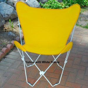 Shimmering Sun Gold Fabric Butterfly Foldable Chair by Alogma