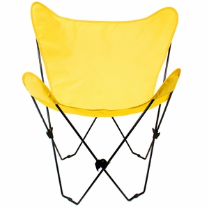 Shimmering Sunny Gold Replacement Cover for Butterfly Chair by Alogma