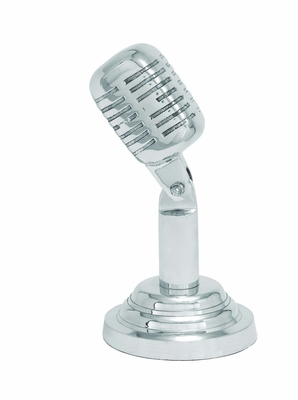 Shiney Aluminum Microphone Shaped Trophy Theater D�cor Brand Woodland