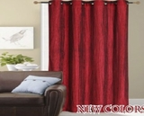 Shining Bright Flocking Fauz Silk Panel Curtain With Grommet Rings Brand Kashi