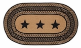 Shining Farmhouse Jute Rug Oval Stencil Stars by VHC Brands