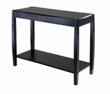 Shiny Black Elegant Cleo Console Table by Winsome Woods