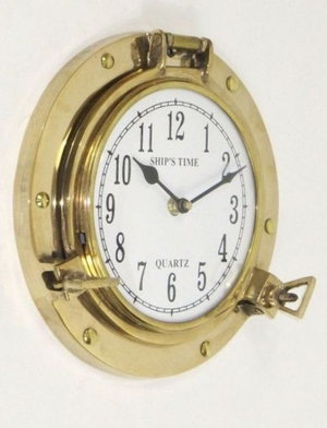 Shiny Finished Stylish Brass Port Hole Clock by IOTC