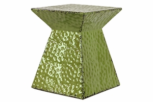 Shiny Green colored Fashionable Metal Stool