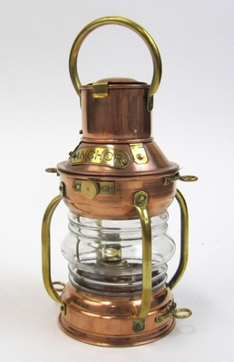 Ships Anchor Lamp - Old Fashioned Copper Ship Oil Lamp Brand IOTC