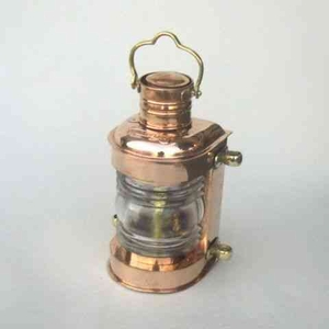 Ships Lookout Lamp - Old Fashioned Copper Ship Oil Lamp Brand IOTC