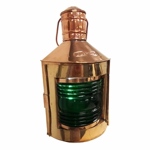 Ships Port Lamp - Old Fashioned Copper Ship Oil Lamp Brand IOTC