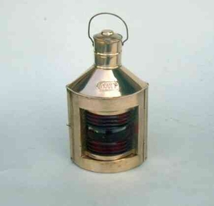 Ships Starboard Lamp - Old Fashioned Copper Ship Oil Lamp Brand IOTC