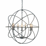 Shooting Star Attractive Customary Styled 7 Light Mini Chandelier in Rustic Finish by Yosemite Home Decor