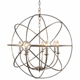 Shooting Star Attractive Styled 7 Light Mini Chandelier in Nickel Plated Finish by Yosemite Home Decor