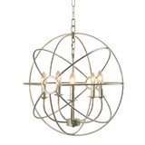 Shooting Star Beautiful Styled 5 Light Mini Chandelier in Nickel Plated Finish by Yosemite Home Decor