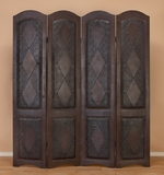 Signature 4 Panel Room Divider Hand Carved Wooden Floor Screen Brand Woodland