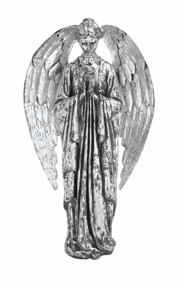 Silver Angle Metal Holiday Decor Statue Holiday Decor