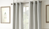 Silver Colored Black Out Curtains Pack of Two