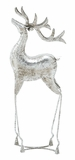 "Silver Metal Deer w/ Weathered Effects 28""H, 8""W by Woodland Import"