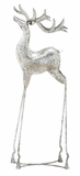 """Silver Metal Reindeer Home Decor 34""""H, 11""""W by Woodland Import"""