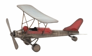 Simlpe and Classic Metallic Plane Decor in Red Coating Brand Woodland