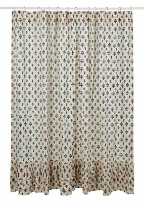 Buy Simple and Beautiful Elysee Ruffled Shower Curtain by