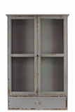 Simple and Elegant Grey Colored Wooden Cabinet