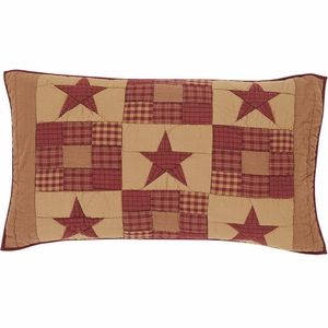 Simple and Soft Ninepatch Star Luxury Sham by VHC Brands