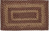 Simple but Timeless Burgundy Tan Jute Rug Rect by VHC Brands