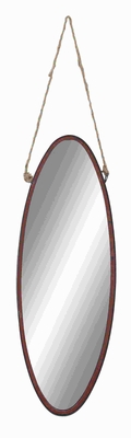 Simple Geometric Shaped Metal Rope Wall Mirror in Modern Finesse Brand Woodland