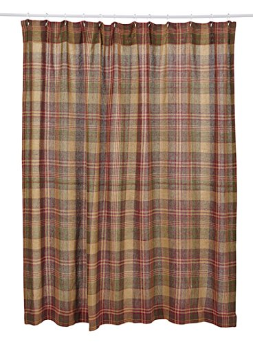 Buy Simple Kendrick Burlap Plaid Shower Curtain by VHC Brands