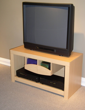 Simple Large Elegant Wooden Compact TV Stand by 4D Concepts
