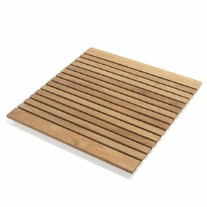 Simple Le spa Teak Floor Mat by Infinita