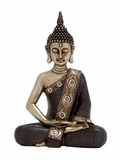 Simply Divine Polystone Sitting Buddha by Woodland Import