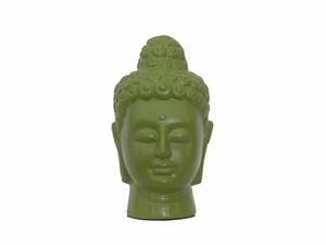 Singapore's Divine Ceramic Buddha Head Green by Urban Trends Collection