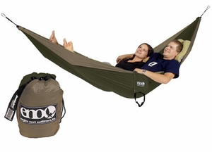Single Nest Light Backpackers Hammock Khaki / Olive Brand Wild Orchid