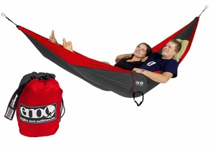 Single Nest Light Backpackers Hammock Red / Charcoal Brand Wild Orchid