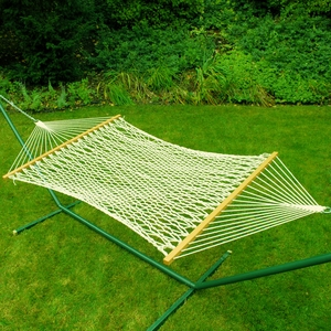 Single size 11' cotton rope hammock by Alogma