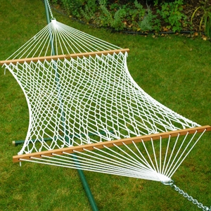 Single size 13' Deluxe Polyester Rope Hammock by Alogma