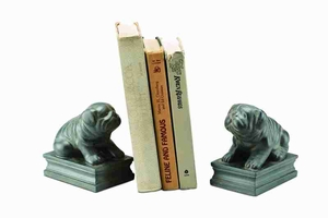 Sitting Bulldog Bookends To Fall In Love Of Books Brand SPI-HOME