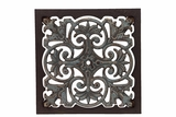 Skillfully Crafted Wooden Wall Decor w/ Traditional Ethnic Design