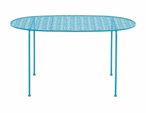 Sky Like Metal Blue Tea Table by Woodland Import