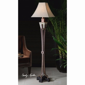 Slate Metal Floor Lamp with Crackled Metal Detailing Brand Uttermost
