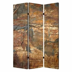 Slate Screen Crafted with Artistic Detailing in Dark Brown Brand Screen Gem